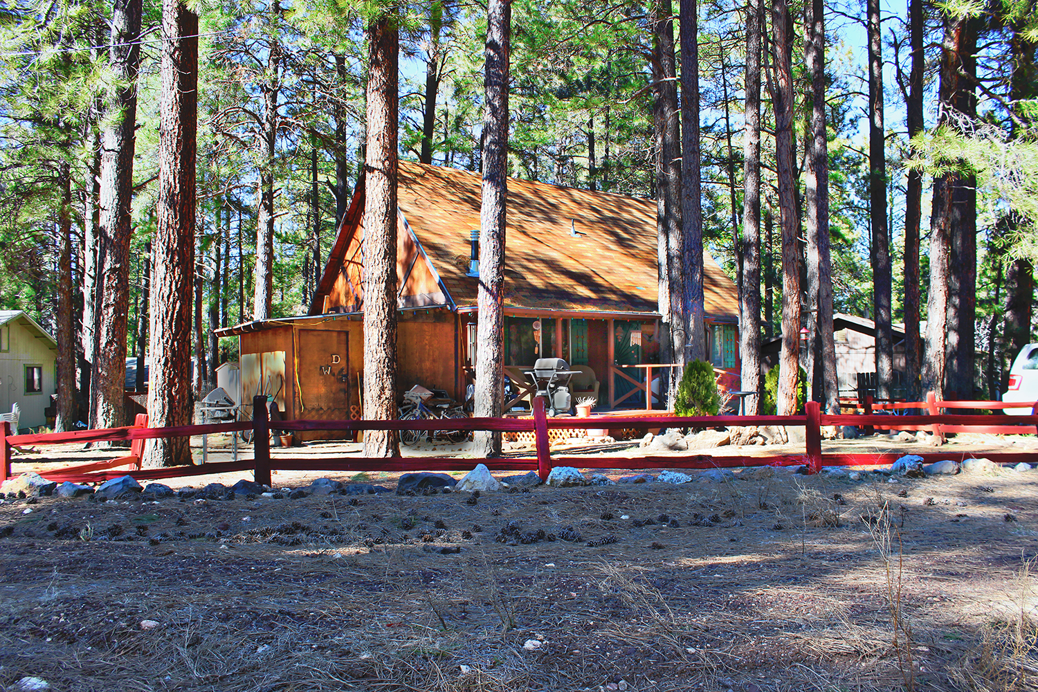Charming home in the woods kachina village flagstaff for Az cabins for sale